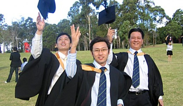 Students celebrate graduation day