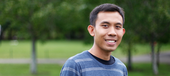 """Aussies are friendly and easy going and everyone enjoys the life here,"" says Indonesian PhD student Agus Fredy Maradona. ""I love the way they say 'Hi, how are you doing' and 'no worries'."" [Photo: Nizar Noor]"