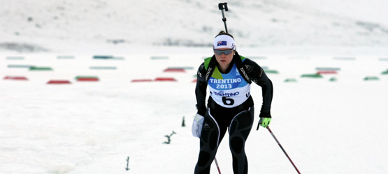 Lucy Glanville has secured her place in national sporting history as only the third Australian woman to compete in the biathlon at the Winter Olympics.