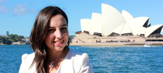 Student Renata Zilli Montero is singing at the Sydney Opera House. Photo: Supriya Kasaju