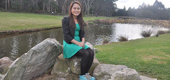 Thuong Nguyen, from Vietnam,  is living her dream of studying at Macquarie University.