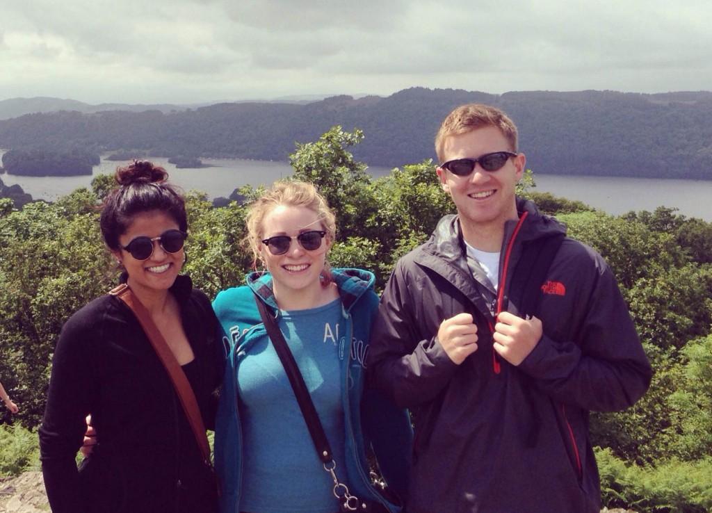 Macquarie University student Anshul Potnis (far left) on student exchange in the UK