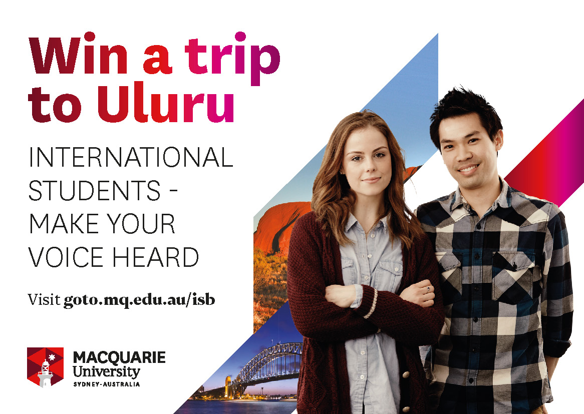 Complete the International Student Barometer for your chance to win a trip to Uluru.